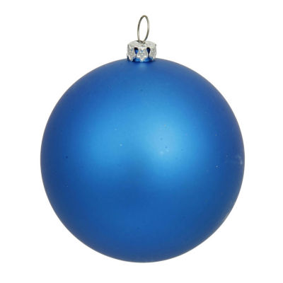 "Matte Blue UV Resistant Commercial Drilled Shatterproof Christmas Ball Ornament 8"" (200mm)"""