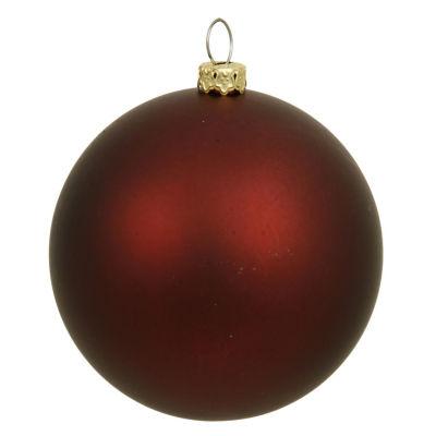 """Matte Burgundy Red UV Resistant Commercial Shatterproof Christmas Ball Ornament 6"""" (150mm)"""""""
