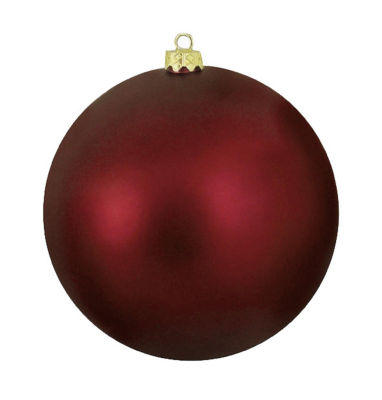 "Matte Burgundy Red UV Resistant Commercial Shatterproof Christmas Ball Ornament 6"" (150mm)"""