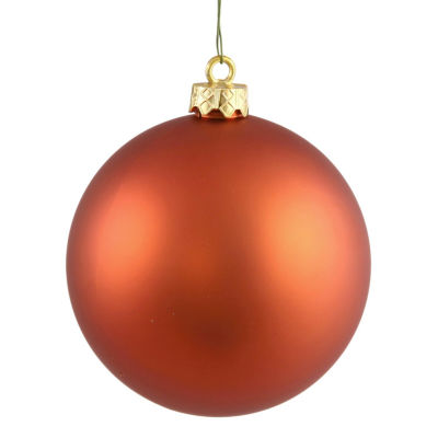 "Matte Burnished Orange UV Resistant Commercial Drilled Shatterproof Christmas Ball Ornament 2.75"" (70mm)"""