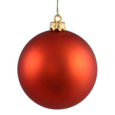 """Matte Burnt Orange UV Resistant Commercial Shatterproof Christmas Ball Ornament 4"""" (100mm)"""
