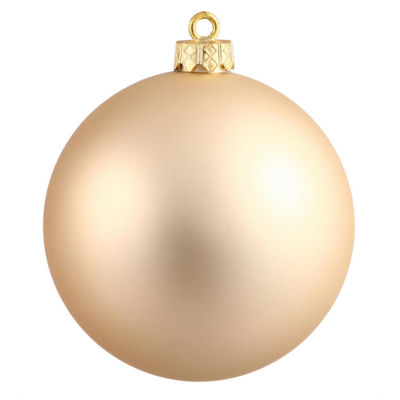 "Matte Champagne UV Resistant Commercial Drilled Shatterproof Christmas Ball Ornament 10"" (250mm)"""