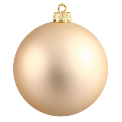 "Matte ChampagneUV Resistant Commercial Shatterproof Christmas Ball Ornament 4"" (100mm)"""