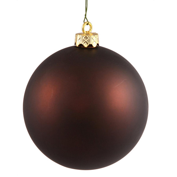 "Matte Chocolate Brown UV Resistant Commercial Shatterproof Christmas Ball Ornament 6"" (150mm)"""