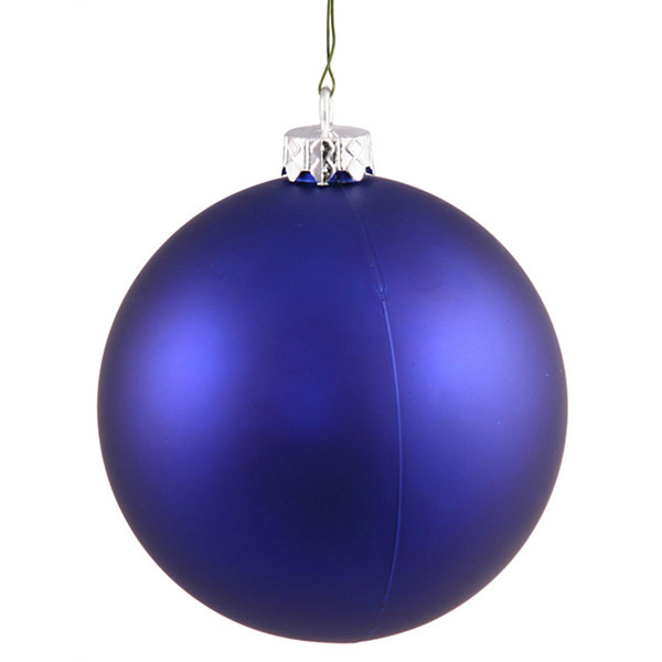 "Matte Cobalt UV Resistant Commercial Drilled Shatterproof Christmas Ball Ornament 10"" (250mm)"