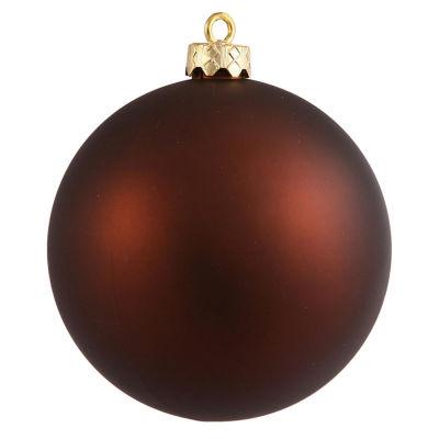 "Matte Copper Brown UV Resistant Commercial Shatterproof Christmas Ball Ornament 4"" (100mm)"""