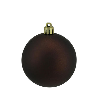 "Matte Copper UV Resistant Commercial Drilled Shatterproof Christmas Ball Ornament 2.75"" (70mm)"""