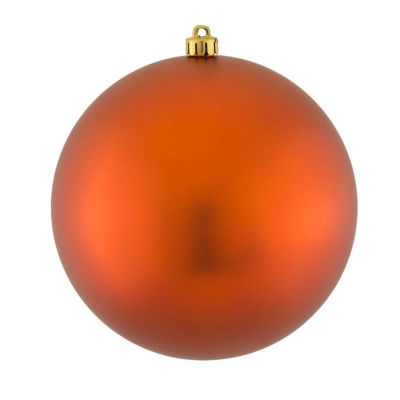 "Matte Copper UV Resistant Commercial Drilled Shatterproof Christmas Ball Ornament 8"" (200mm)"""