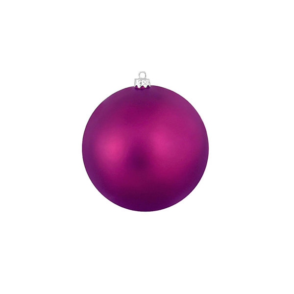 "Matte Eggplant Purple Shatterproof Christmas BallOrnament 4"" (100mm)"""