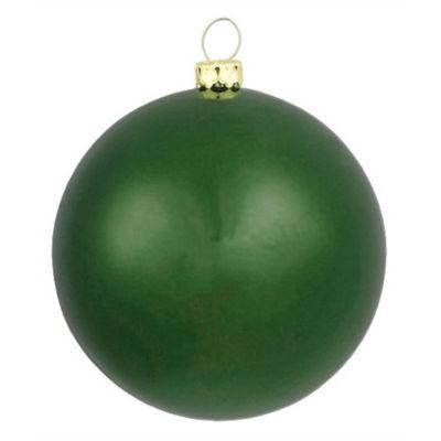 """Matte Emerald Green Shatterproof Christmas Ornament 6"""" (150mm)"""