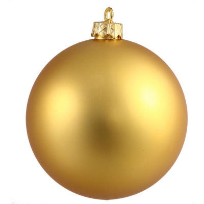 "Matte Gold UV Resistant Commercial Drilled Shatterproof Christmas Ball Ornament 2.75"" (70mm)"""