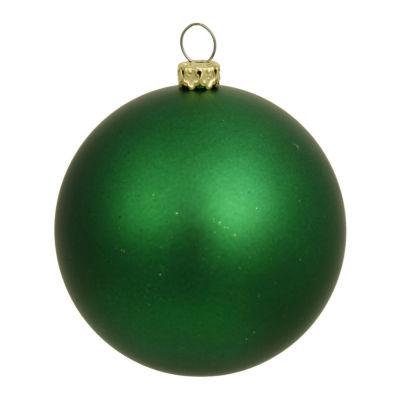 "Matte Green UV Resistant Commercial Drilled Shatterproof Christmas Ball Ornament 2.75"" (70mm)"