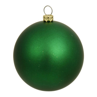 "Matte Green UV Resistant Commercial Drilled Shatterproof Christmas Ball Ornament 8"" (200mm)"""