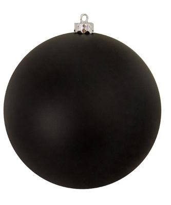 """Matte Jet Black Commercial Shatterproof ChristmasBall Ornament 10"""" (250mm)"""""""