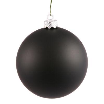 """Matte Jet BlackUV Resistant Commercial Shatterproof Christmas Ball Ornament 6"""" (150mm)"""""""