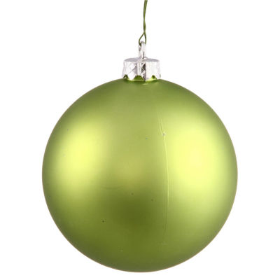 "Matte Lime Green UV Resistant Commercial Shatterproof Christmas Ball Ornament 4"" (100mm)"