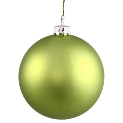 "Matte Lime Green UV Resistant Commercial Shatterproof Christmas Ball Ornament 6"" (150mm)"""