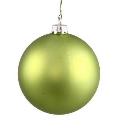 "Matte Lime UV Resistant Commercial Drilled Shatterproof Christmas Ball Ornament 2.75"" (70mm)"""