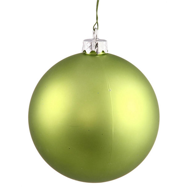 "Matte Lime UV Resistant Commercial Drilled Shatterproof Christmas Ball Ornament 8"" (200mm)"""