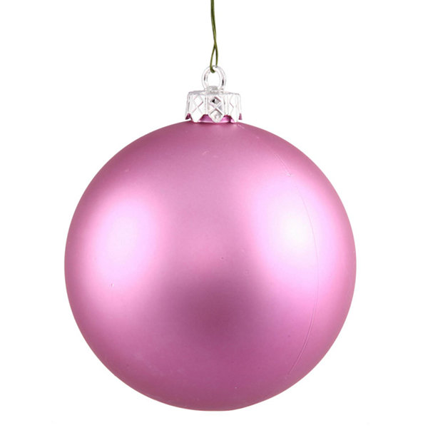 "Matte Orchid Pink UV Resistant Commercial Shatterproof Christmas Ball Ornament 6"" (150mm)"""