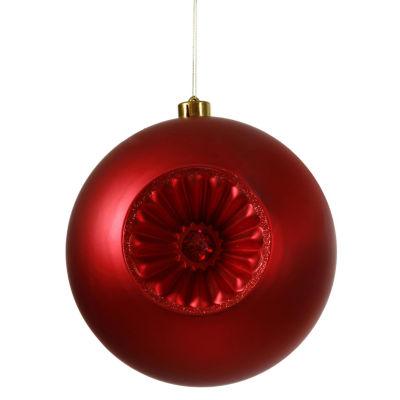 "Matte Red Hot Retro Reflector Shatterproof Christmas Ball Ornament 8"" (200mm)"""