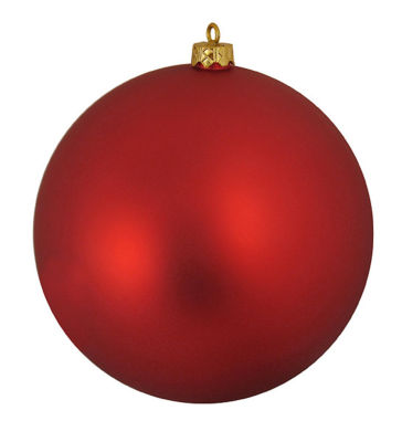 """Matte Red Hot UV Resistant Commercial ShatterproofChristmas Ball Ornament 6"""" (150mm)"""""""