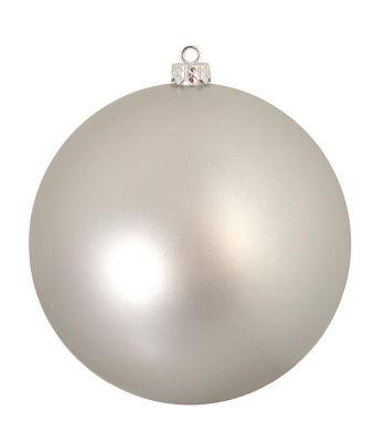 """Matte Silver Splendor Commercial Shatterproof Christmas Ball Ornament 10"""" 250mm"""""""