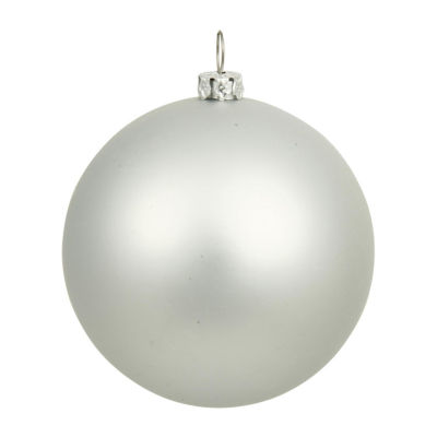 "Matte Silver UV Resistant Commercial Drilled Shatterproof Christmas Ball Ornament 10"" (250mm)"