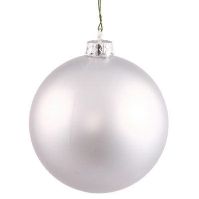 """Matte Silver UV Resistant Commercial Drilled Shatterproof Christmas Ball Ornament 2.75"""" (70mm)"""""""