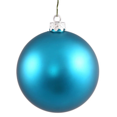 "Matte Turquoise Blue UV Resistant Commercial Shatterproof Christmas Ball Ornament 4"" (100mm)"""