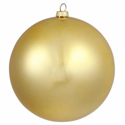 "Matte Vegas Gold Commercial Shatterproof Christmas Ball Ornament 6"" (150mm)"