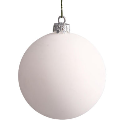 "Matte White UV Resistant Commercial Drilled Shatterproof Christmas Ball Ornament 15.75""(400mm)"""