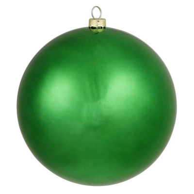 "Matte Christmas Green UV Resistant Shatterproof Christmas Ball Ornament 6"" (150mm)"""