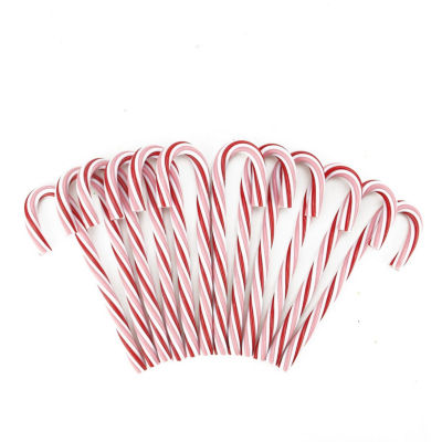 Pack of 12 Peppermint Twist Pink  White and Red Candy Cane Christmas Ornaments 7.25""