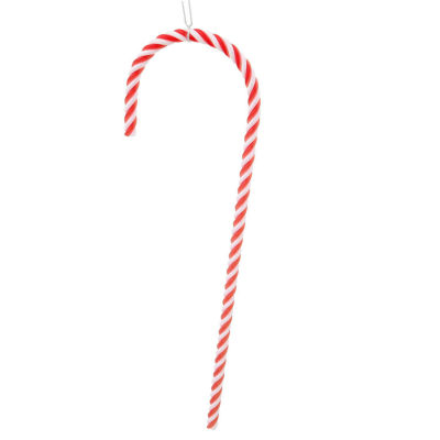 Pack of 2 Red and White Striped Candy Cane Christmas Ornaments 18""