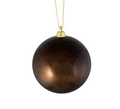 "Satin Chocolate Brown Shatterproof Christmas Ball Ornament 4"" (100mm)"""