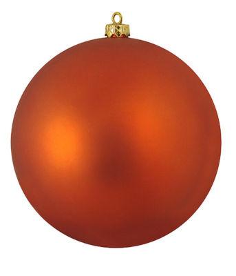 """Shatterproof Matte Burnt Orange UV Resistant Commercial Christmas Ball Ornament 8"""" (200mm)"""""""