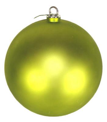 "Shatterproof Matte Green Kiwi Commercial ChristmasBall Ornament 12"" (300mm)"""