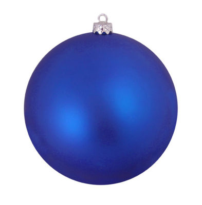 "Shatterproof Matte Lavish Blue UV Resistant Commercial Christmas Ball Ornament 4"" (100mm)"""