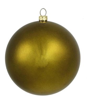 "Shatterproof Matte Olive Green Christmas Ball Ornament 10"" (250mm)"""