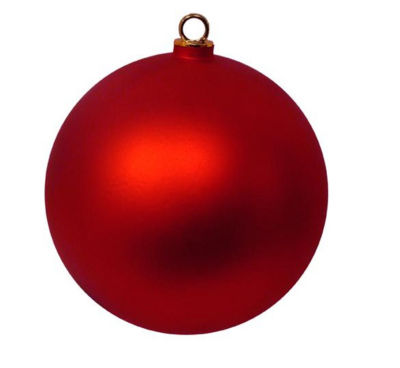 "Shatterproof Matte Red Hot Commercial Christmas Ball Ornament 12"" (300mm)"""