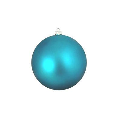 "Shatterproof Matte Turquoise Blue UV Resistant Commercial Christmas Ball Ornament 4"" (100mm)"""
