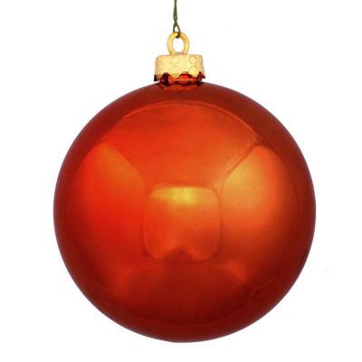 """Shatterproof Shiny Burnt Orange UV Resistant Commercial Christmas Ball Ornament 4"""" (100mm)"""""""