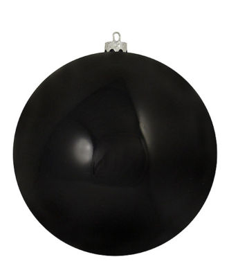 "Shatterproof Shiny Jet Black UV Resistant Commercial Christmas Ball Ornament 6"" (150mm)"""