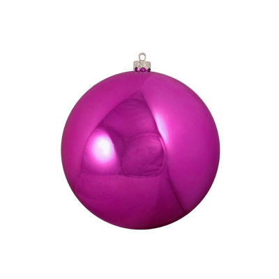 "Shatterproof Shiny Light Magenta Pink Christmas Ball Ornament 6"" (150mm)"""