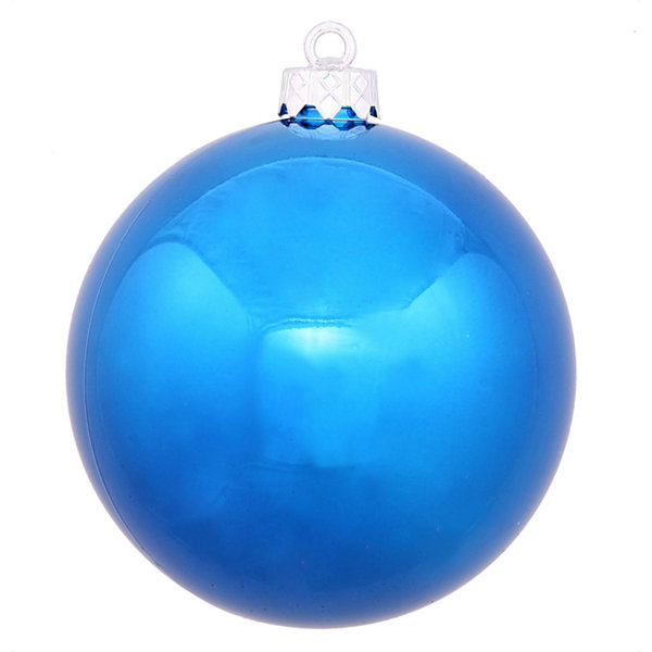 "Shiny Blue UV Resistant Commercial Drilled Shatterproof Christmas Ball Ornament 2.75"" (70mm)"""