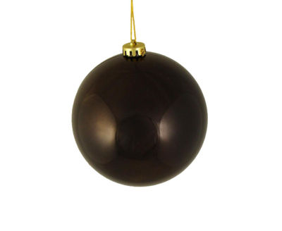 "Shiny Chocolate Brown Shatterproof Christmas BallOrnament 6"" (150mm)"""
