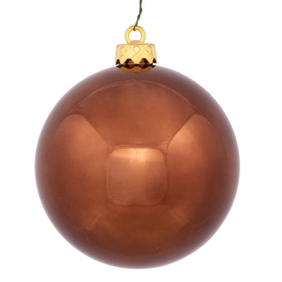 "Shiny Chocolate Brown UV Resistant Commercial Shatterproof Christmas Ball Ornament 6"" (150mm)"