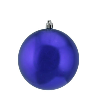 "Shiny Cobalt Blue UV Resistant Commercial Shatterproof Christmas Ball Ornament 4"" (100mm)"""