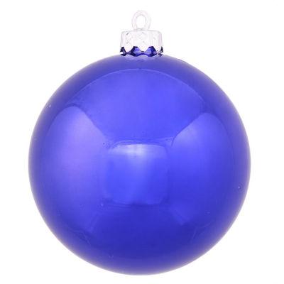 "Shiny Cobalt UV Resistant Commercial Drilled Shatterproof Christmas Ball Ornament 10"" (250mm)"""